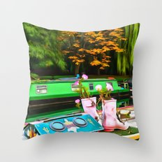 Colors On A Canal London Throw Pillow