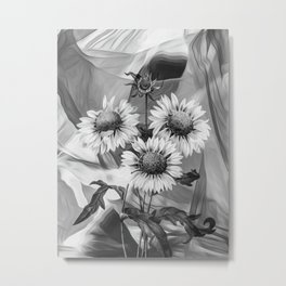Sunflower Tas Metal Print