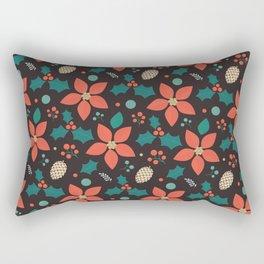 Deck the Halls (Black Background) Rectangular Pillow