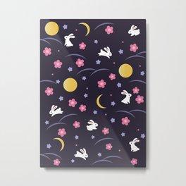 Moon Rabbits V2 Metal Print
