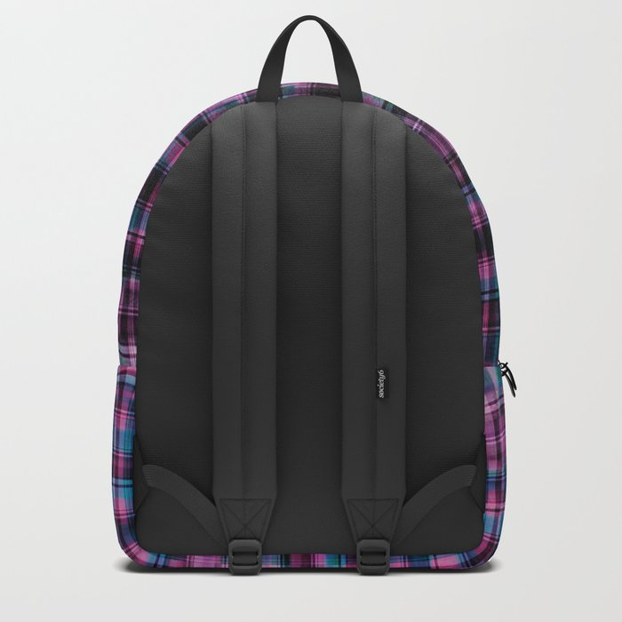 Electric Pink - Purple Plaid Backpack