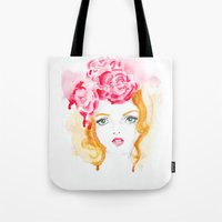 doll Tote Bags featuring Doll by S'ANNie