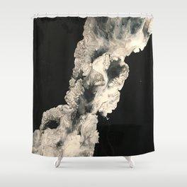Smoke in the night Shower Curtain