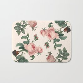 Rose Garden Butterfly Pink Bath Mat