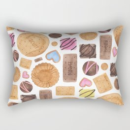 Selection of Sweets, Candy, Cakes and Biscuits Rectangular Pillow