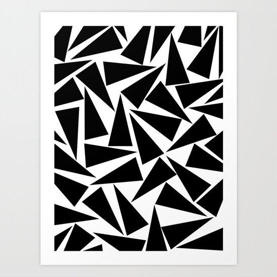 black triangle pattern Art Print