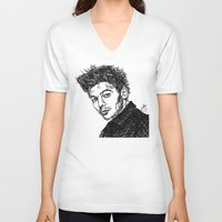 louis tomlinson V-neck T-shirts featuring Louis Tomlinson by Hollie B