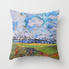 Lost In the clouds Throw Pillow