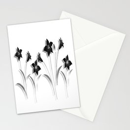 Schwarze Lilien Stationery Cards