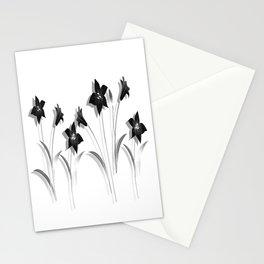 Schwarze Lilien Stationery Cards