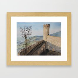German Castle watercolor painting Framed Art Print