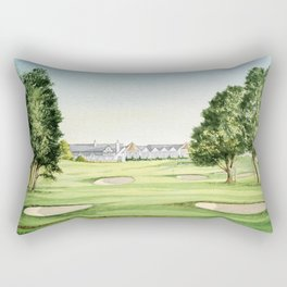 Southern Hills Golf Course 18th Hole Rectangular Pillow