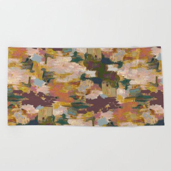 Watercolor Pattern Beach Towel