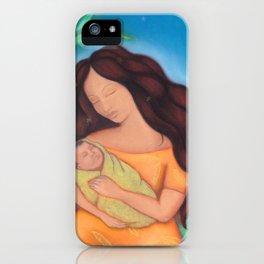 Hawaiian Mother & Child, Banana Tree iPhone Case
