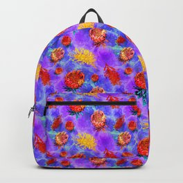 Colourful Australian Native Floral Pattern Backpack