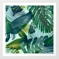 Jungles greens, banana leaf, tropical, Hawaii decor Art Print