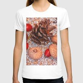 Rosa coxis in arbores autumnales T-shirt