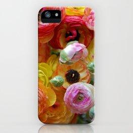 Bunch of Ranunculus Flowers iPhone Case