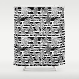 Beautiful Black and White Australiana Print Shower Curtain