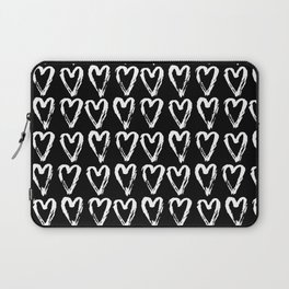 Black & White-Love Heart Pattern- Mix & Match with Simplicty of life Laptop Sleeve