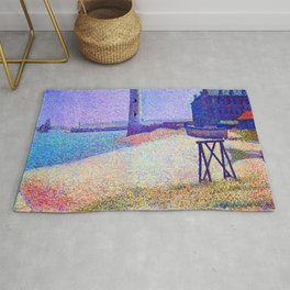 Georges Seurat Lighthouse at Honfleur Rug
