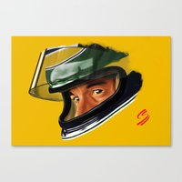 senna Canvas Prints featuring Senna by Silverback Design