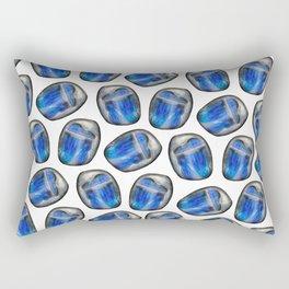 Illuminated Structure: Solo Labradorite (blue flash) Rectangular Pillow