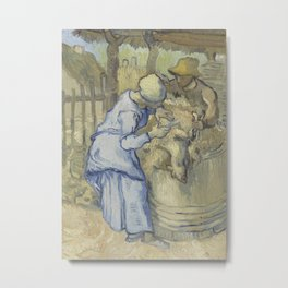 The Sheepshearer (after Millet) Metal Print