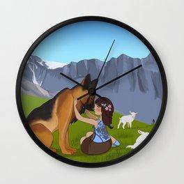 Shepherdess Wall Clock