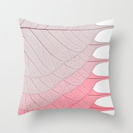 Leaves Red Throw Pillow