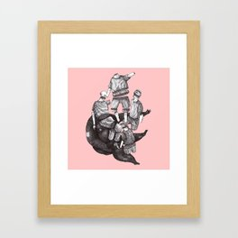 pieces of life Framed Art Print