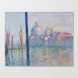 Le Grand Canal by Claude Monet Canvas Print