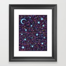 Swirly Starry Skies Framed Art Print