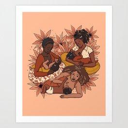 Breastfeeding Mamas Art Print