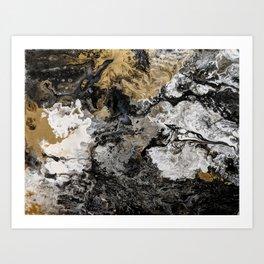 Black Granite Art Print