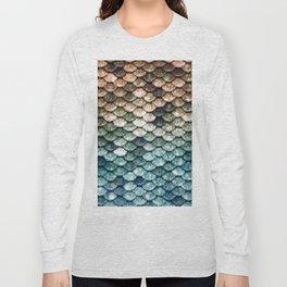 Mermaid Tail Teal Ocean Long Sleeve T-shirt