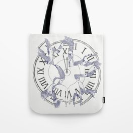 Existence with Time (Time Travelers) Tote Bag