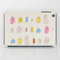 transparent iPad Cases featuring Transparent Houses by Judy Kaufmann