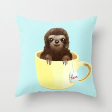 Love Sloth Throw Pillow
