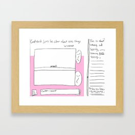countedcurtains-ingly Framed Art Print