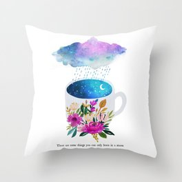 Storm by Mia Charro Throw Pillow