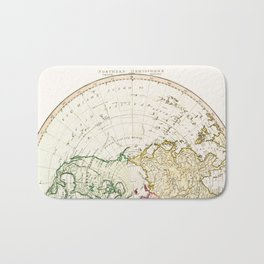Northern Hemisphere- reproduction of William Faden's 1790 engraving Bath Mat