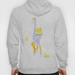 Birthdays are Coming - Midas is Ready - Christmas Lavender Giraffe Hoody