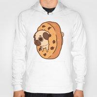 cookie Hoodies featuring Puglie Cookie by Puglie Pug