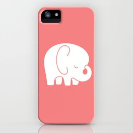 Mod Baby Elephant Coral iPhone Case