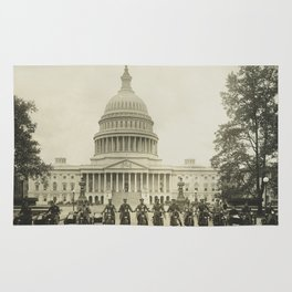 Vintage Motorcycle Police - Washington DC Rug