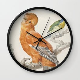 Two Exotic Birds - Vintage Tropical Decor Wall Clock