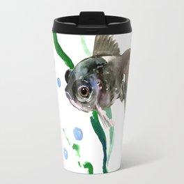 Black Fish, Aquarium Fish Illustration Travel Mug