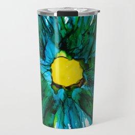 Blue Beauty Travel Mug