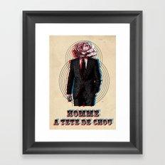 l'homme à la tête de chou Framed Art Print